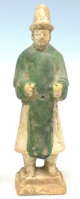 Genuine Antique Pottery Chinese Ming Dynasty Tomb Attendant A.D. 1369 - 1644
