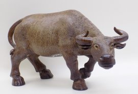 Chinese Ceramic Figurine Statue Feng Shui Bull Ox