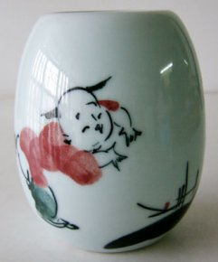 2002 Vintage Old Exquisite Chinese Hand Painting Porcelain Vase Happy Child
